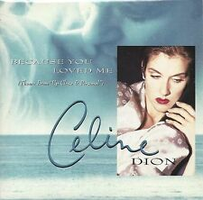 Celine Dion  ‎– Because You Loved Me cd single in cardboard