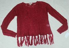WOMEN'S ITS OUR TIME FRINGE LIGHTWEIGHT SWEATER~ SIZE S~ NWT~ RETAILS FOR 45.00