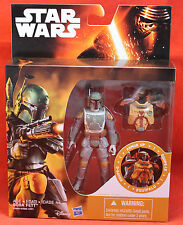 "Star Wars TFA The Force Awakens Armor Up 3.75"" Boba Fett 2015 Hasbro"