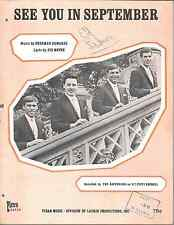 THE HAPPENINGS Rare 1966 UK Sheet Music SEE YOU IN SEPTEMBER