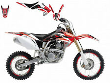 BLACKBIRD HONDA CRF 150 2014 KIT GRAFICHE COMPLETO DREAM 3 GRAPHICS ROSSO NERO