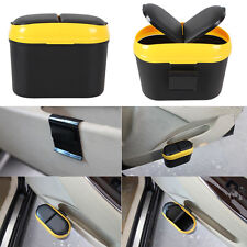 Car Mini Trash Rubbish Can Garbage Dust Dustbin Box Case Holder Bin Hook