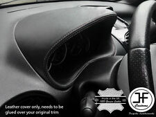 GREY STITCH GAUGE SPEEDO HOOD LEATHER COVER FITS PEUGEOT 206 206 CC 1998-2012