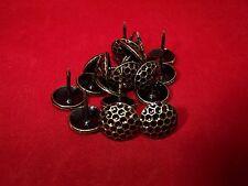 20 Stück Polsternägel Rundkopfnägel Ziernägel Stahl rustikal schwarz 15 x 18 mm