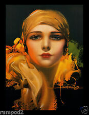 Art Nouveau/Art Deco/Rolf Armstrong/Dream Girl In a Gold Scarf/17x22