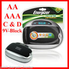 ENERGIZER BATTERY UNIVERSAL MULTI CHARGER AA AAA 9V C D RECHARGEABLE 1st