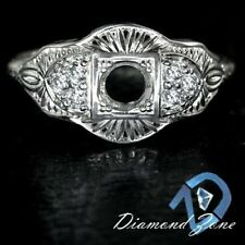 VINTAGE SEMI MOUNT 4MM SETTING 1/4ct DIAMOND F VS ART DECO STLE DESIGN RING