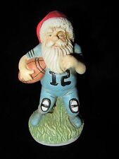 "Porcelain Santa Claus Playing Football Figurine - 5"" tall"