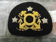 PAST COMMODORE  HAT PATCH YACHT CLUB GOLD/SILVER