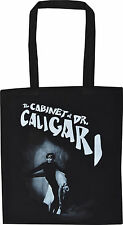 DR CALIGARI BLACK COTTON TOTE VINTAGE HORROR SILENT FILM CULT NOIR SHOPPER BAG