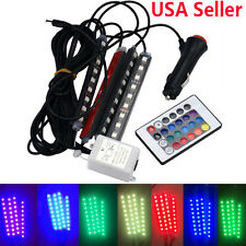 4 in 1 LED for Car Charge Interior RGB Light Accessories Foot Car Decorative US