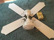 "VINTAGE ENCON WHITE 40"" HIGH SPEED CEILING FAN CROMPTON GREAVES+Control box"