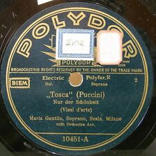 "10"" GENTILE MARIA 10"" Opera 78rpm German Electric Polydor 10451 Tosca/Butterf"