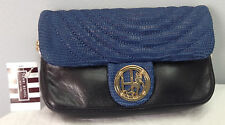 HENRI BENDEL NO.7 QUILTED WRISTLET LIZARD MIX IN BLUE MULTI NWT
