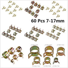60pcs Car Autos Spring Clip Fuel Oil Water Hose Pipe Tube Clamp Fastener 7-17mm
