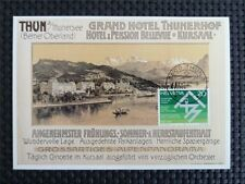 SCHWEIZ MK THUN GRAND HOTEL THUNERHOF MAXIMUMKARTE CARTE MAXIMUM CARD MC c5321