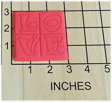 LOVE Square Cookie Cutter and Stamp #1248