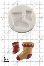 Molde de silicona Navidad medias Alimentación Usar FPC Sugarcraft