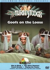 The Three Stooges - Goofs on the Loose (DVD 2004, B&W and Colorized) classic fun
