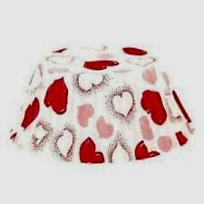 Heart Anniversary Cupcake Muffin Liner Baking Cups 50 Standard Size New # 4912