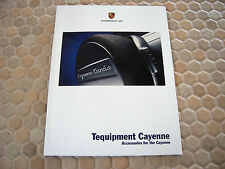 PORSCHE OFFICIAL CAYENNE S TURBO TEQUIPMENT ACCESSORIES BROCHURE 2003 USA Ed