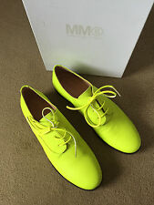 Maison Martin Margiela MM6 FLUORO BROGUE Yellow sz 40 NEW w box