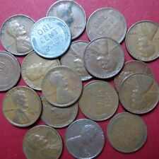 *CIRCULATED, Mixed LOT of 18 Vintage  LINCOLN WHEATCENTS, Coin Lot #6