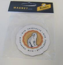 10 PACK BUNDABERG  RUM WHITE FLUTED CIRCULAR POLAR BEAR IMAGE FRIDGE MAGNET
