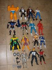 "1994 Marvel Toy Biz 10"" Figures Loose Lot of 15 Figure Set Cable Thing Peter DD"