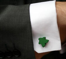 Green Carcassonne Meeple Cufflinks