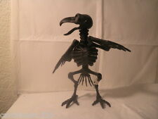 "8"" Tall Poseable Black Crow Skeleton Prop Halloween Decoration Haunted House"