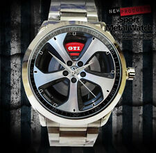 New Reloj Volkswagen VW Golf GTI Accesories Merch WHEEL MEN Sport Metal Watch
