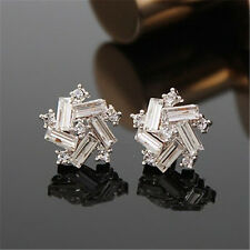 Korean Women Windmill Crystal Rhinestone Ear Stud Fashion Earrings Jewelry Gift