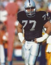 LYLE ALZADO 8X10 PHOTO LOS ANGELES RAIDERS LA PICTURE NFL FOOTBALL STANDING