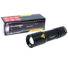 3W CREE MINI TORCH FLASHLIGHT + ALKALINE BATTERIES - 3 MODES + ZOOM