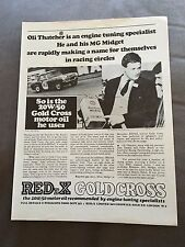"VINTAGE 1960s ""REDeX GOLD CROSS"" 20W/50 MOTOR OIL CAR ORIGINAL ADVERT"