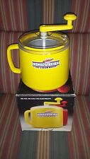 Vintage Donvier Premier Ice Cream Maker Yellow Pint Size Original Box - NICE