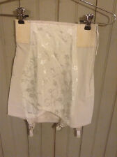 Vintage white Best Form open Bottom girdle w/ garters & side zipper sz 26
