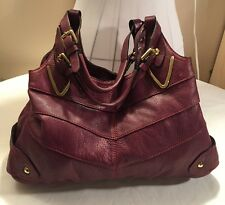 ORYany Wine Color Leather Shoulder Purse Gorgeous N Rare