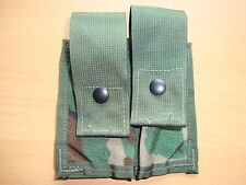 Orignal US ARMY 40mm Pyrotechnic Grenade Pouch Double Molle II Woodland