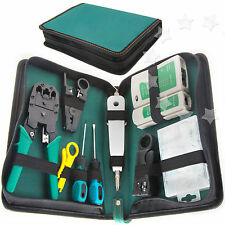 RJ45 RJ11 Cable Hand Tool Crimper Network Tool Component Box w/A Crystal Head