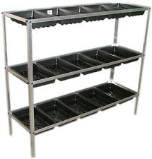 Jumbo Greenhouse Staging/Potting  seed tray frame 3 tier