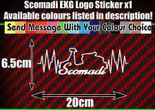 Scomadi Ekg Heart Rate Flatline sticker- ALL COLOURS AVAILABLE, vinyl, TL125 200