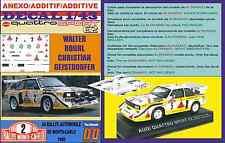 Anexo DECAL 1/43 AUDI QUATTRO SPORT e2 W. Rohrl R. MONTECARLO 1986 (05)