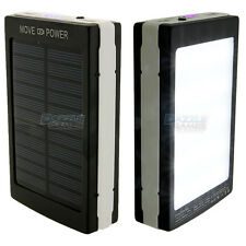 8000mAh Solar Battery Charger Power Bank with LED Outdoor Camping Light Lantern