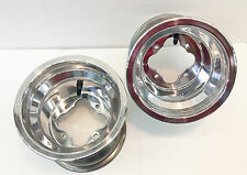 "DWT Alumilite A5 Rolled Lip ATV Rear Wheel PAIR 8"" 8x8 3+5 4/110 LTZ 400 LTR 450"