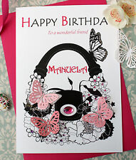 Personalised Birthday Card Daughter Colleague Friend Aunt Mother Niece Handbag