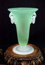 Antique Frederick Carder Steuben Green Jade & Alabaster Art Deco Glass 2909 Vase
