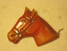 vintage bakelite horse brooch pin carved figural equestrian mount charger *