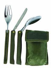 FULPA KFS German Army Style Belt Camping Folding Knife Fork & Spoon Cutlery Set
